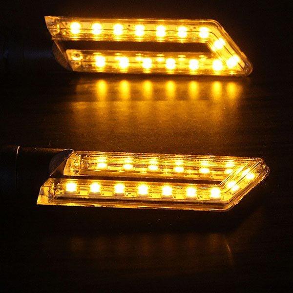 15 SMD Led Motorcycle Hollow Strip Turn Signal Indicators Amber Light