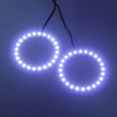 12V White Angel Eyes Headlight for BMW 24SMD LED Ring Car Light