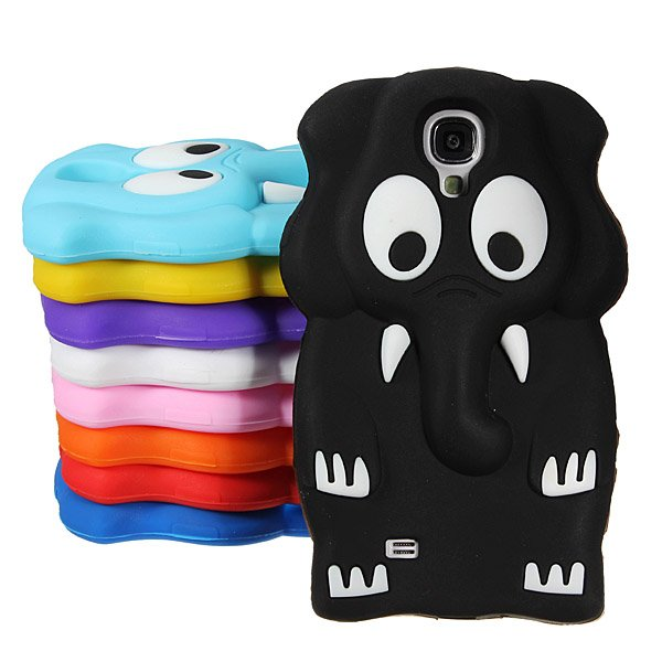 Elephant Pattern Soft Silicone Back Case For Samsung Galaxy S4 I9500