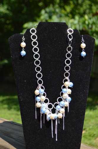 Blue Sand Pearl Necklace