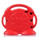 For iPad Air 2 / iPad 6 Red Anpanman EVA Bumper Portable Protective Case with Handle & Holder
