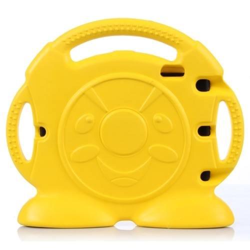 For iPad Air 2 / iPad 6 Yellow Anpanman EVA Bumper Portable Protective Case with Handle & Holder