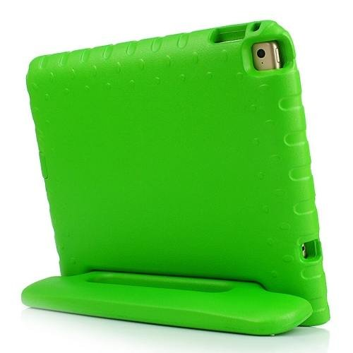 For iPad Air 2 / iPad 6 Green EVA Bumper Protective Case with Handle & Holder