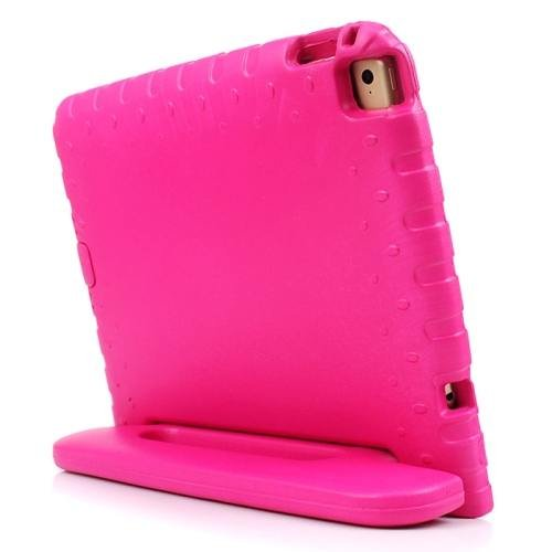 For iPad Air 2 / iPad 6 Magenta EVA Bumper Protective Case with Handle & Holder
