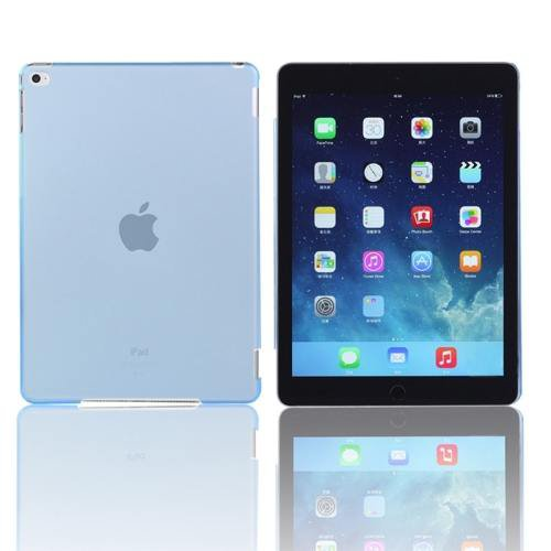 For iPad Air 2 / iPad 6 Blue Plastic Hard Protective Case