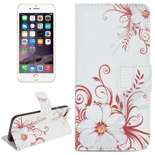 For iPhone 6 Plus Flower Leather Case with Holder, Card Slots & Wallet