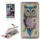 For iPhone 6 Plus Owl Double Sided Print Leather Case with Holder, Card Slots & Wallet