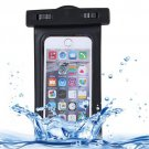 For iPhone 6 Plus Black Waterproof Carrying Case with Touch Responsive Front & Lanyard
