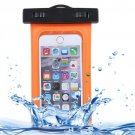 For iPhone 6 Plus Orange Waterproof Carrying Case with Touch Responsive Front & Lanyard