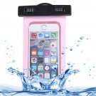 For iPhone 6 Plus Pink Waterproof Carrying Case with Touch Responsive Front & Lanyard