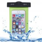 For iPhone 6 Plus Green Waterproof Carrying Case with Touch Responsive Front & Lanyard