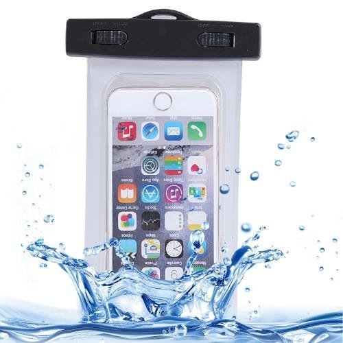 For iPhone 6 Plus Transparent Waterproof Carrying Case with Touch Responsive Front & Lanyard