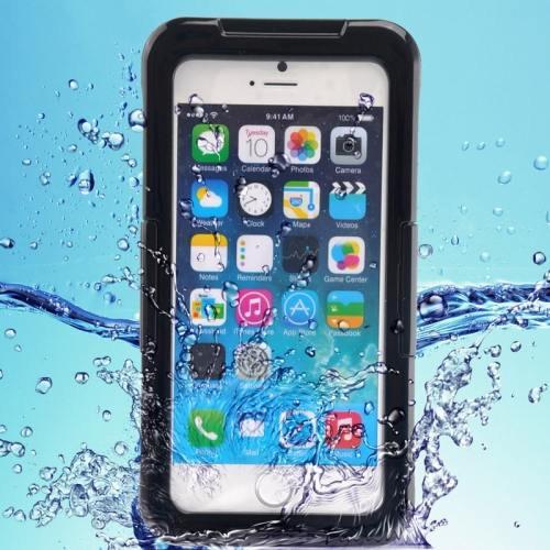 iPhone 6 Plus Black IP68 Waterproof Protective Case with Lanyard
