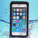 iPhone 6 Plus Black IP68 Waterproof Protective Case with Lanyard