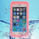iPhone 6 Plus Pink IP68 Waterproof Protective Case with Lanyard