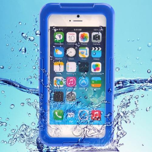 iPhone 6 Plus Blue IP68 Waterproof Protective Case with Lanyard