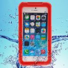 iPhone 6 Plus Red IP68 Waterproof Protective Case with Lanyard