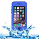 iPhone 6 Plus Dark Blue ABS Material Waterproof Protective Case with Button & Touch Screen