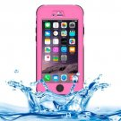 iPhone 6 Plus Pink ABS Material Waterproof Protective Case with Button & Touch Screen