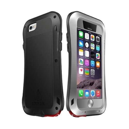 For iPhone 6 Plus Grey LOVE MEI Metal Small Waist Waterproof Dustproof Shockproof Powerful Case