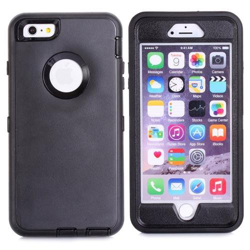iPhone 6 Plus Black 3 in 1 Hybrid Silicon & Plastic Protective Case