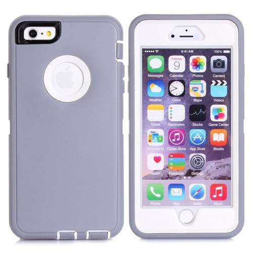 iPhone 6 Plus Grey 3 in 1 Hybrid Silicon & Plastic Protective Case