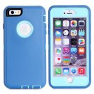 iPhone 6 Plus Blue 3 in 1 Hybrid Silicon & Plastic Protective Case