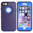For iPhone 6 Plus Dark Purple+Blue 3 in 1 Hybrid Silicon & Plastic Protective Case