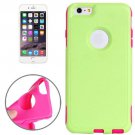 For iPhone 6 Plus Green + Magenta Plastic Shell + TPU Combination Case