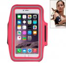 For iPhone 6 Plus Red Sport Armband Case with Earphone Hole and Key Pocket