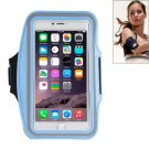 For iPhone 6 Plus Blue Sport Armband Case with Earphone Hole and Key Pocket