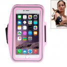 For iPhone 6 Plus Pink Sport Armband Case with Earphone Hole and Key Pocket