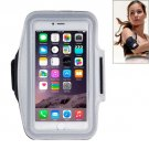 For iPhone 6 Plus Grey Sport Armband Case with Earphone Hole and Key Pocket