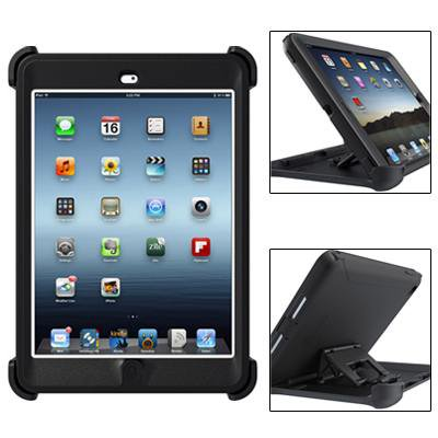For iPad Mini 1/2/3 Black Defender Series Protective Case with Stand