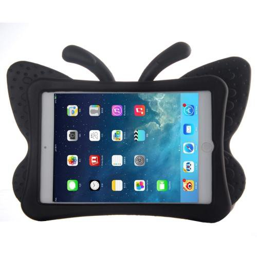 For iPad Mini 1/2/3 Black Butterfly EVA Protective Case with Holder