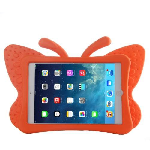 For iPad Mini 1/2/3 Orange Butterfly EVA Protective Case with Holder