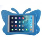 For iPad Mini 1/2/3 Blue Butterfly EVA Protective Case with Holder