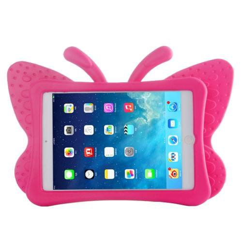 For iPad Mini 1/2/3 Magenta Butterfly EVA Protective Case with Holder