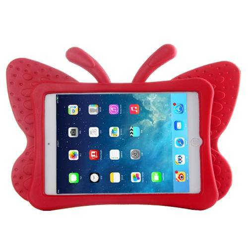 For iPad Mini 1/2/3 Red Butterfly EVA Protective Case with Holder
