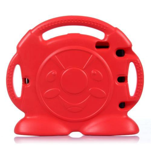 For iPad Mini 1/2/3 Red Anpanman Pattern EVA Bumper Portable Protective Case with Handle & Holder