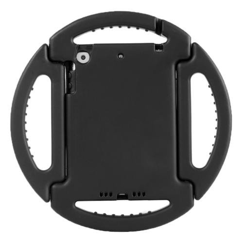 For iPad Mini 1/2/3 Black EVA Disk Style Bumper Portable Protective Case with Handle & Holder