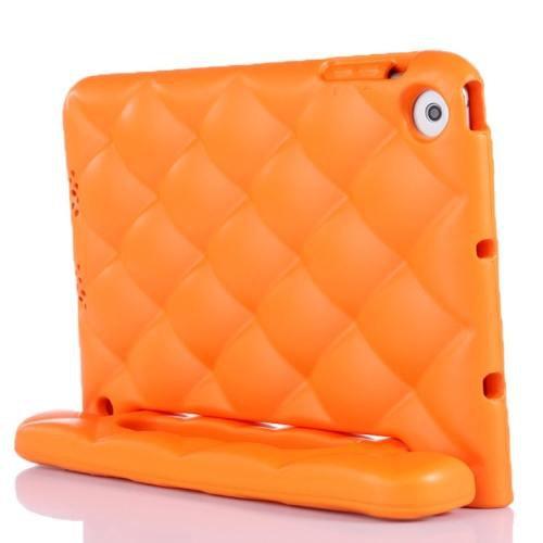 For iPad Mini 1/2/3 Orange EVA Net Style Bumper Protective Case with Handle & Holder