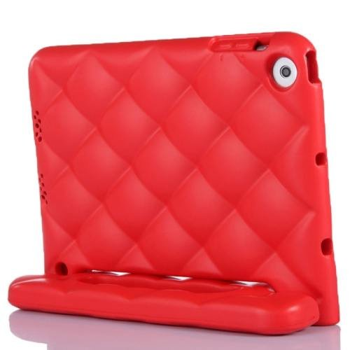 For iPad Mini 1/2/3 Red EVA Net Style Bumper Protective Case with Handle & Holder
