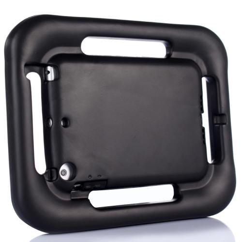 For iPad Mini 1/2/3 Black EVA Steering Wheel Style Handle Protective Case