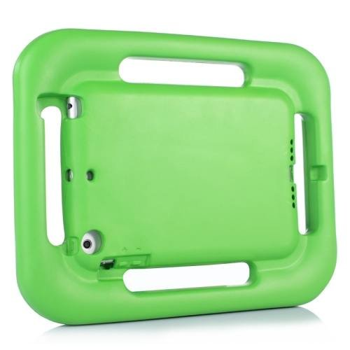 For iPad Mini 1/2/3 Green EVA Steering Wheel Style Handle Protective Case