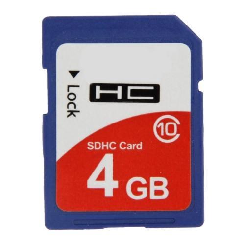 4GB High Speed Class 10 SDHC Camera Memory Card (100% Real Capacity)