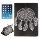 For iPad Air/iPad 5 Windbell Pattern Leather Case with Holder, Card Slots & Wallet