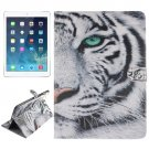 For iPad Air/iPad 5 Tiger Pattern Leather Case with Holder, Card Slots & Wallet