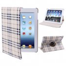 For iPad 4/3/2 Beige 360 Degree Rotatable Scotland Gyrosigma Case with Holder