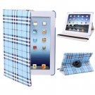 For iPad 4/3/2 Blue 360 Degree Rotatable Scotland Gyrosigma Case with Holder